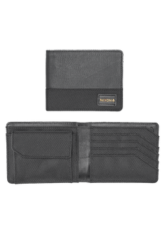 Origami Arc Bi-Fold Coin Wallet, Black