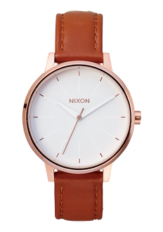 Kensington Leather, Rose Gold / White