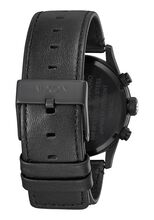 Sentry Chrono Leather, All Black / White