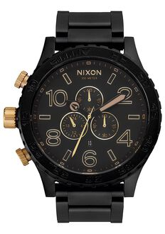51-30 Chrono, Matte Black / Gold