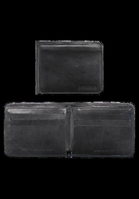 Stealth Slim Bi-Fold Wallet, Black