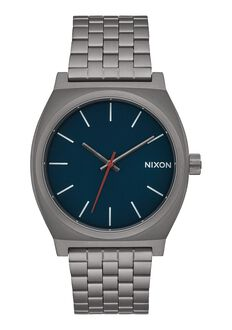 Time Teller, All Gunmetal / Dark Blue