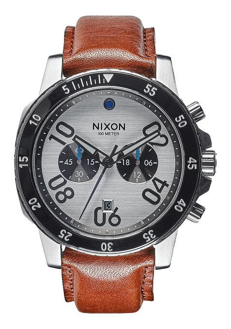 Ranger Chrono Leather, Silver / Saddle