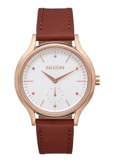 Sala Leather, Rose Gold / White / Brown