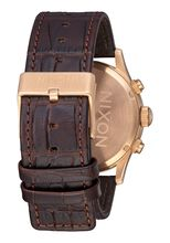 Sentry Chrono Leather, Rose Gold / Brown Gator