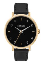 Arrow Leather, Gold / Black