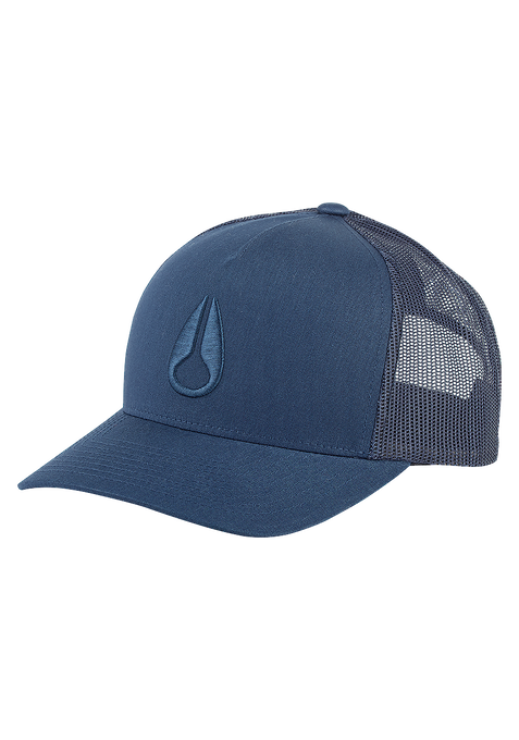 Iconed Trucker Hat, All Navy