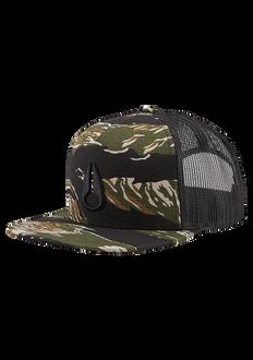 Deep Down Trucker Hat, Tiger Camo