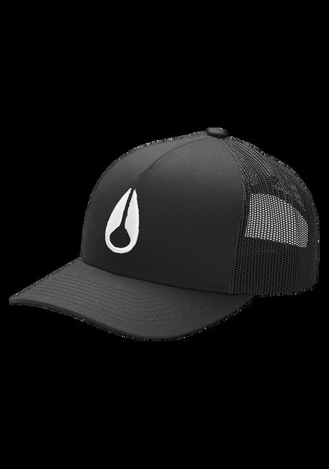 Iconed Trucker Hat, Black / White