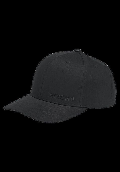 Lockup Snapback Cap, All Black / Black