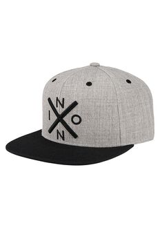 Exchange Snapback Cap, Heather Gray / Black