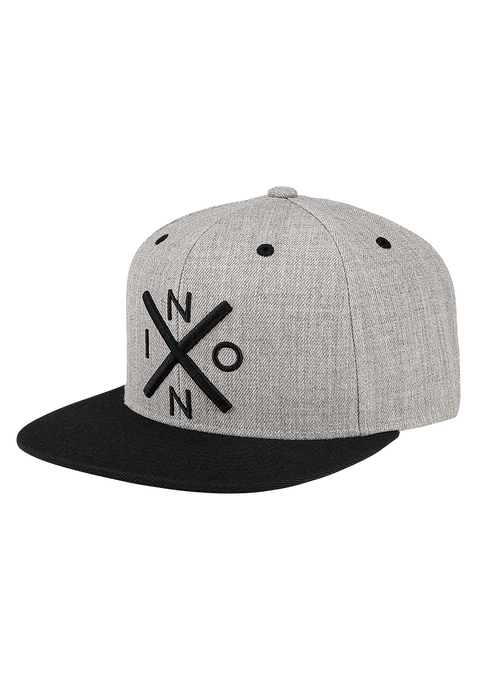 Exchange Snapback Hat, Heather Gray / Black