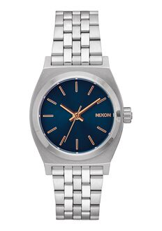 Medium Time Teller, Navy / Rose Gold