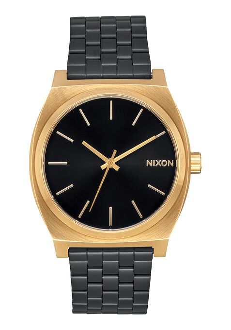 men s watches nixon watches and premium accessories time teller gold black sunray