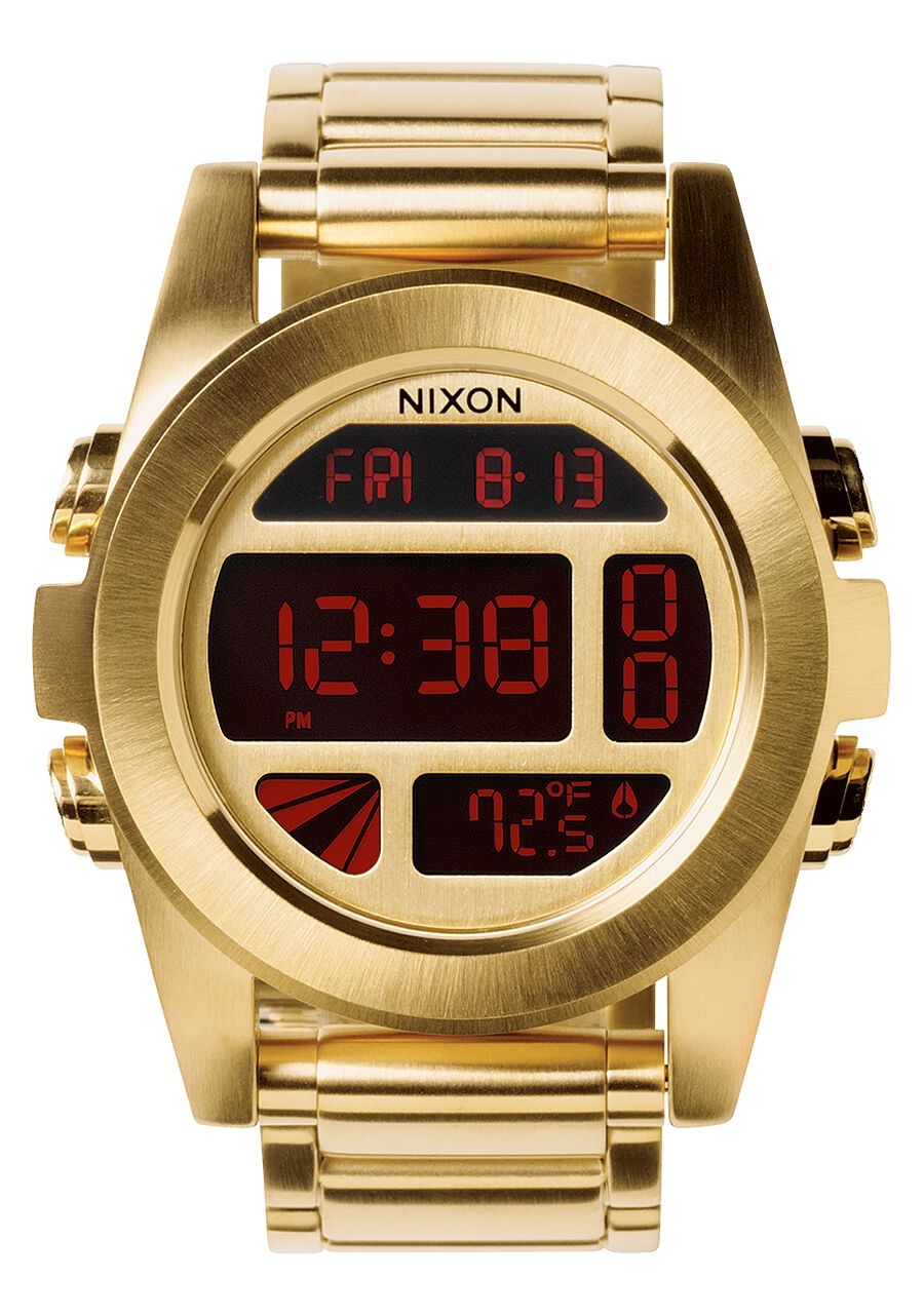 men s digital watches nixon watches and premium accessories unit ss all gold