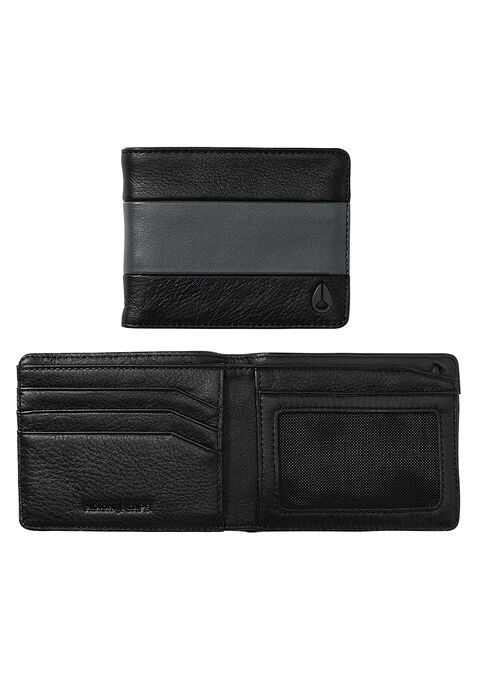 Cape Bi-Fold Wallet, Black / Charcoal
