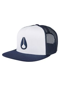 Deep Down Trucker Cap, White / Navy