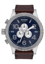 51-30 Chrono Leather, Blue Sunray / Brown