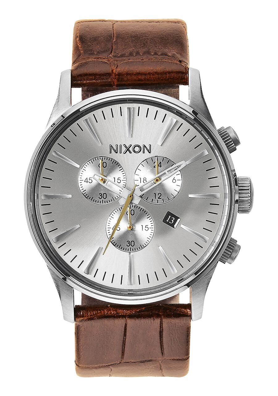 ca s men leather sentry amazon watches stainless ac watch band mens nixon with dp steel