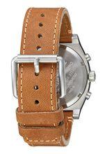 Time Teller Chrono Leather, Gold / Cream / Tan