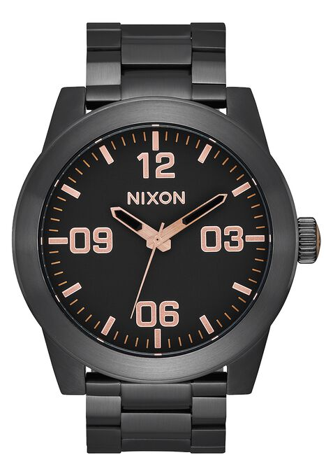 Corporal SS, All Black / Rose Gold