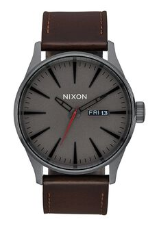 Sentry Leather, Gunmetal / Black / Dark Brown