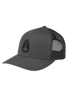 Iconed Trucker Cap, Charcoal / Black