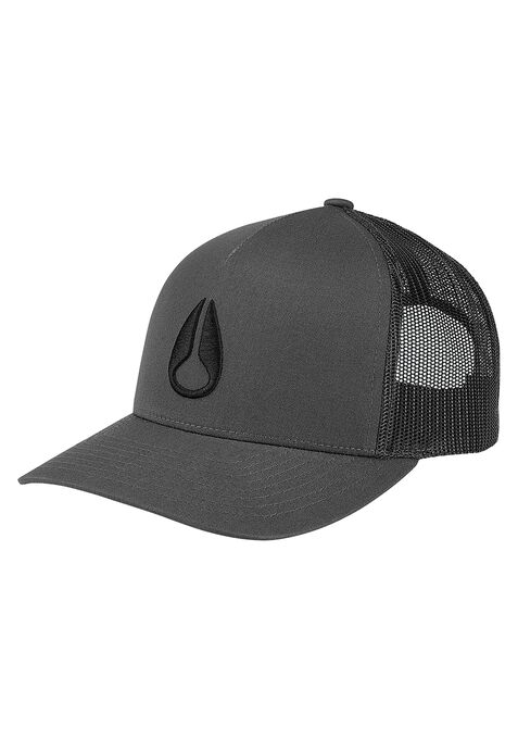 Casquette Camionneur Iconed, Charcoal / Black
