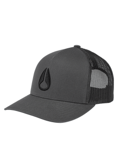 Iconed Trucker Hat, Charcoal / Black