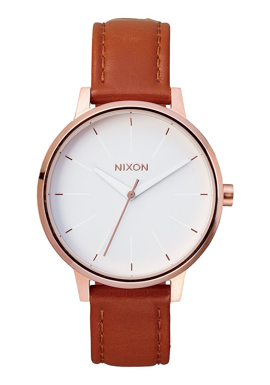 sentry 38 leather men s watches nixon watches and premium kensington leather rose gold white