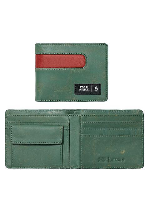 Showout Leather Wallet SW, Boba Fett Green