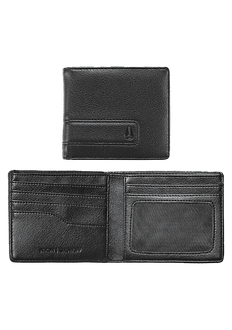 Showoff Bi-Fold Wallet, All Black