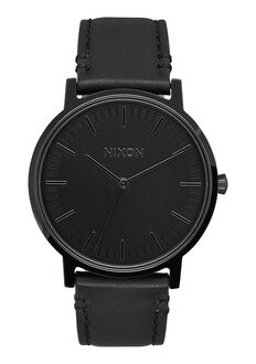 Porter Leather, All Black
