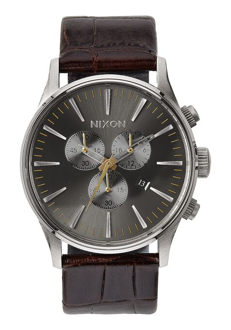 Sentry Chrono Leather, Brown Gator