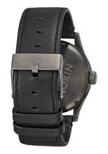 Sentry Leather, Gunmetal / Black