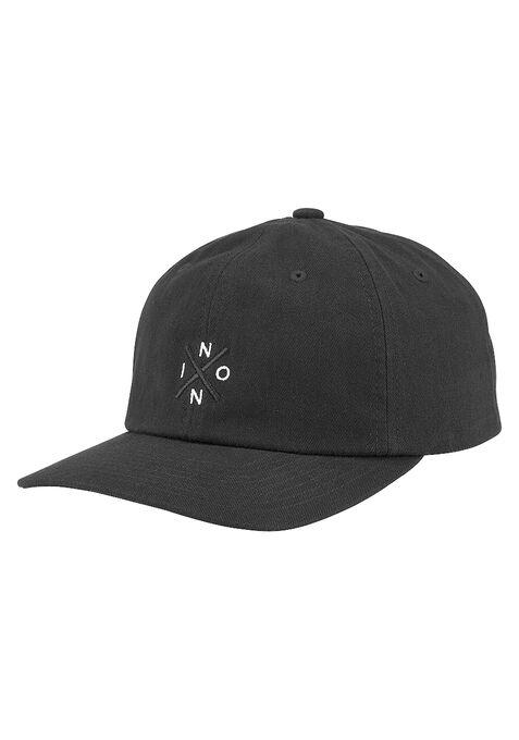 Prep strapback cap, Black