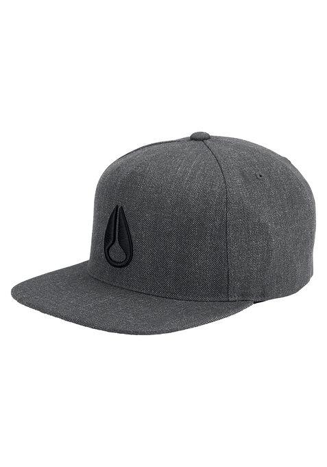 Simon Snap Back Hat, Dark Gray Heather