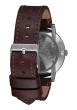 Porter Leather, Navy / Brown