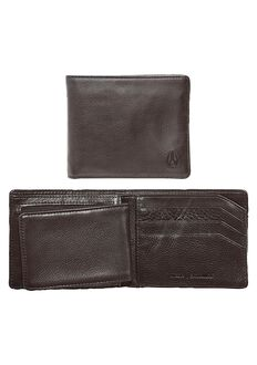 Satellite Big Bill Bi-Fold ID Coin Wallet, Brown