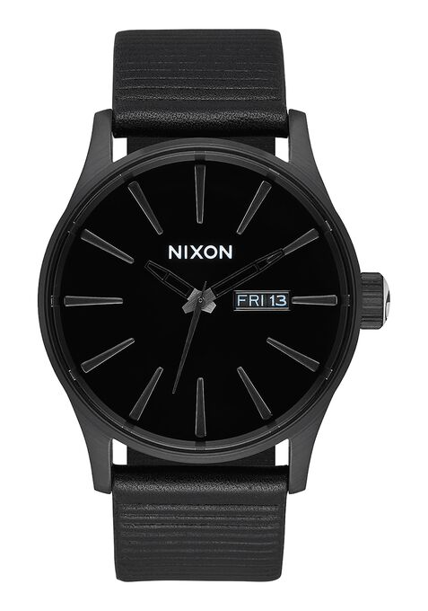 Sentry Leather, All Black / Black
