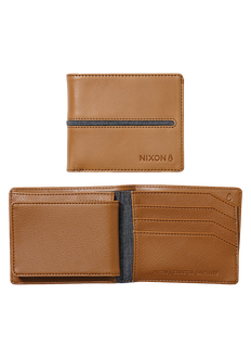 Coastal Satellite Bi-Fold ID Coin Wallet, Tan