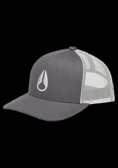 Iconed Trucker Hat, Dark Gray