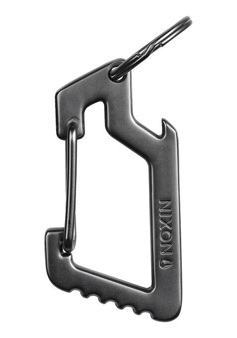 Anchor Carabiner Keychain, Steel Gray