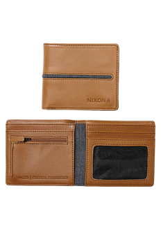 Coastal Showdown Bi-Fold Zip Wallet, Tan