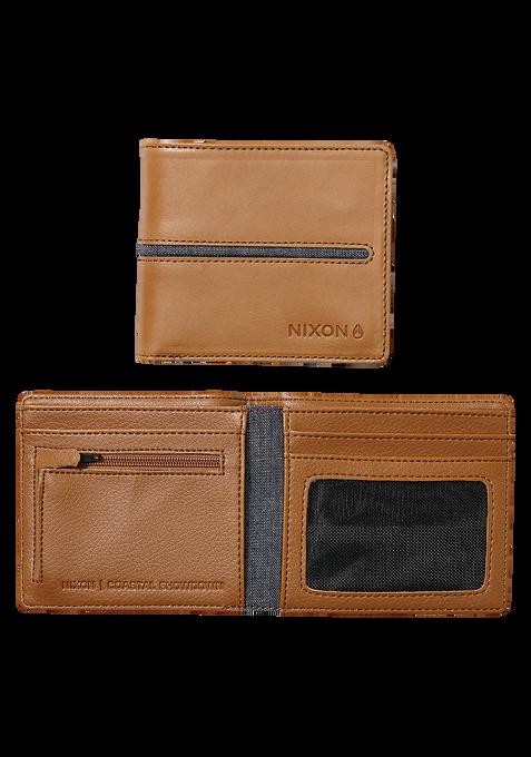 Coastal Showdown Bi-Fold Zip Wallet, Tan