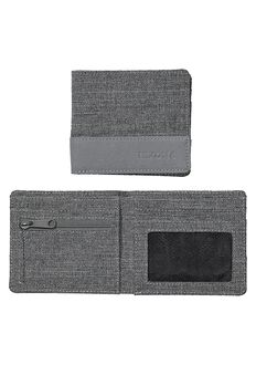 Atlas Nylon Showdown Bi-Fold Wallet, Charcoal Heather