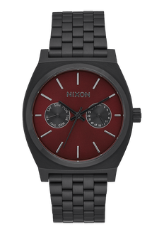 Time Teller Deluxe, All Black / Deep Burgundy