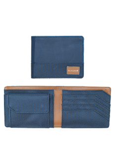 Origami Arc Bi-Fold Coin Wallet, Navy