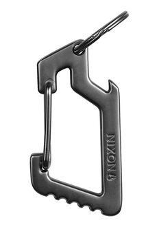 Anchor Carabiner Keychain, Steel Gray