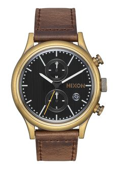 Station Chrono Leather, Brass / Black / Taupe